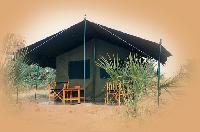 Typical tent with private facilities. This was at Sobo camp on the Galana River in Tsavo East. Unfortunately the camp is now closed.